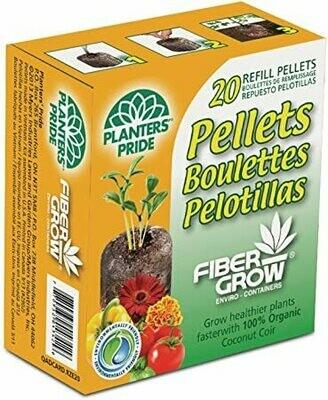 20 Plantable Coconut Coir Pellets