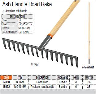 Ash Handle Road Rake