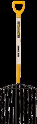 10-Tine Ensilage Fork with D-Grip on Hardwood Handle