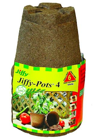 "Jiffy Pot 4"" Round 6 Pack"