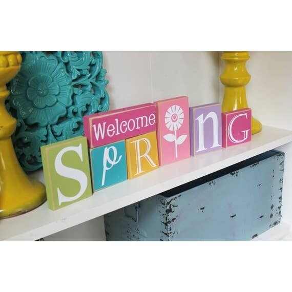 Spring Blocks Sign