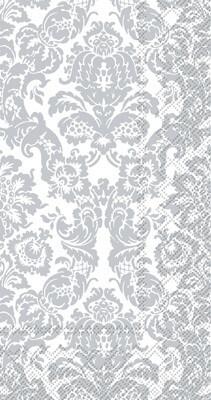 Guest Towels - white silver palais