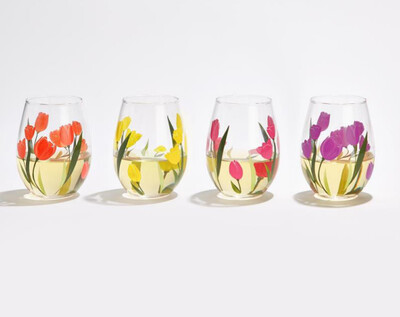 2C Tulip Wine Glass