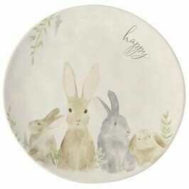 MP Watercolor round bunny platter