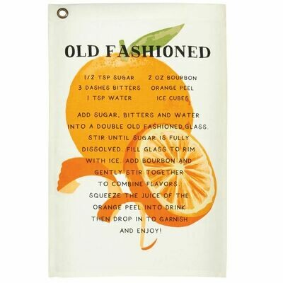 MP Drink Recipe Towel - old fashioned