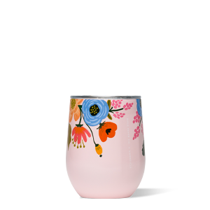 Corkcicle Stemless wine glass - blush lively floral