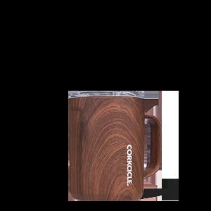 Corkcicle Mug 16oz - walnut wood
