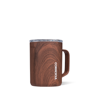 Corkcicle Mug 16oz - walnut wood