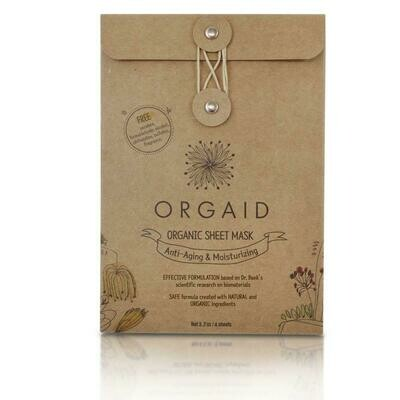 Orgaid Sheet mask - 4 pack - Anit-Aging & Moisturizing