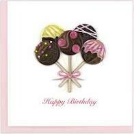 Quilling Cards - birthday pops
