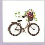 Quilling Cards - bike