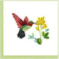 Quilling Cards - hummingbird