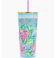 LP Tumbler with Straw - Totally Blossom