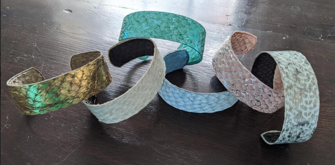MJ Fish Leather Bracelet - Narrow