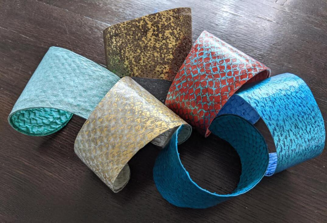 MJ Fish Leather Cuff - Wide