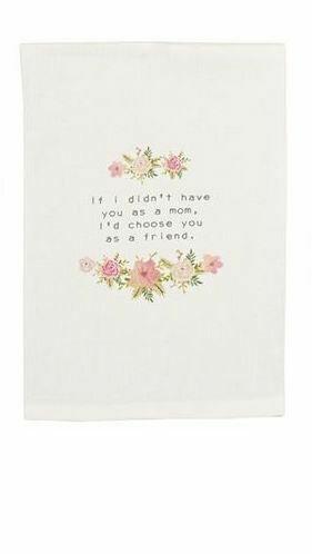 MP floral towel - mom garland