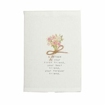 Floral towel - mom friend