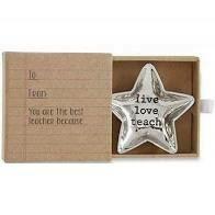 MP teacher mini trinket tray - live love teacher