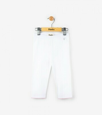 Hatley Capri Leggings - White