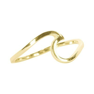 PV Wave Rings - 6 gold
