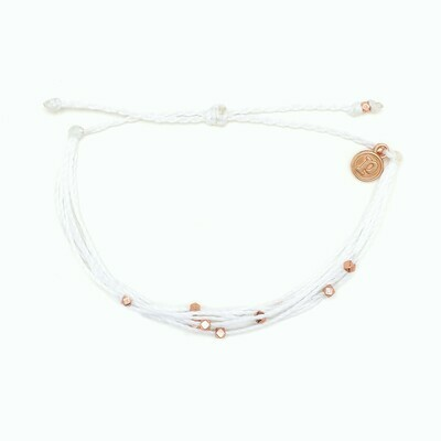 PV Malibu Bracelet - White/R Gold