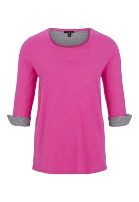 Tribal Hot Pink 3/4 Slv Top