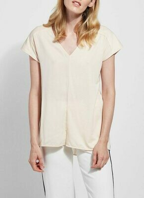 Lysse Alabaster V-Neck Top