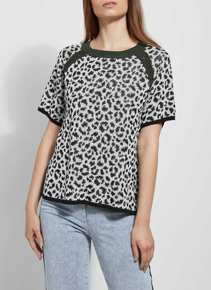 Lysse Leopard Green Sweater