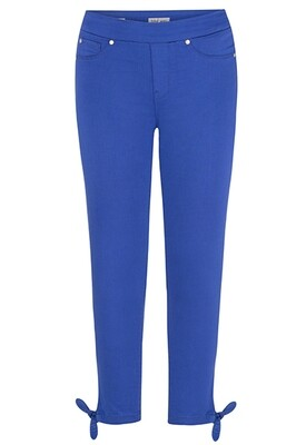 Tribal Knot Detail Crop Pant Ultramarine