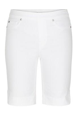 Tribal White Bermuda Shorts