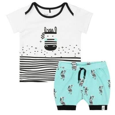 DPD Zebra Shorts Set