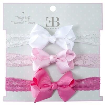 EB Lace Headband - pinks