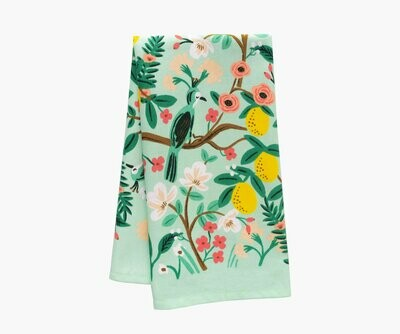Rifle Paper Tea Towel - shanghai garden