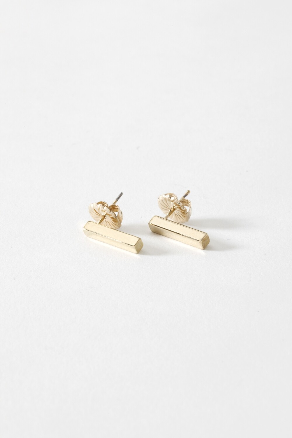 SecondDaughter Gold Vert. Bar Earring - Small