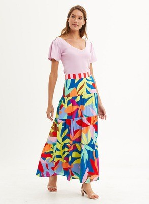 Marie Oliver Mckenzie Skirt - Tropical Leaf