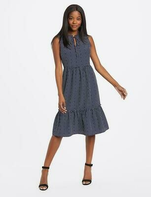 DJ Hearts Dots Tiered Dress