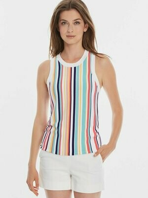 525 Rainbow Stripe Knit Tank - L