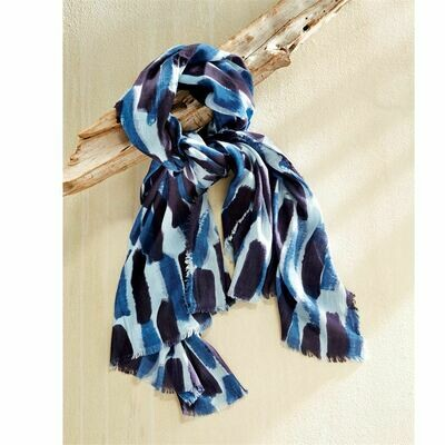 Blue Abstract Scarves