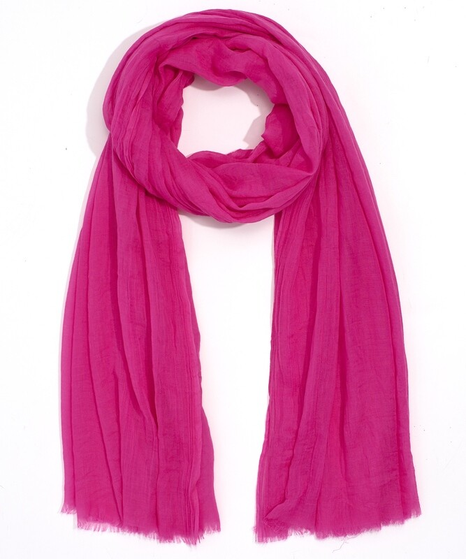 Echo Solid Crinkle Wrap - pink