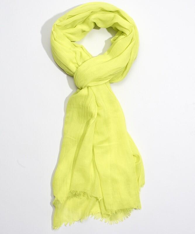 Echo Solid Crinkle Wrap - Yellow