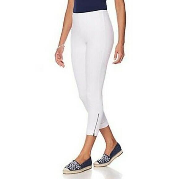 Lysse Side Zip White Legging - S