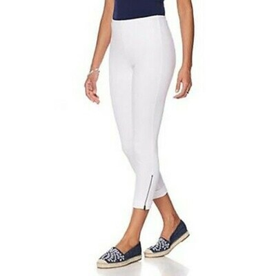 Lysse Side Zip White Legging - S