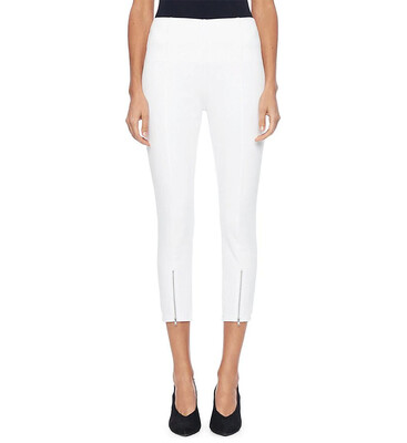 Lysse front zip white denim legging - S