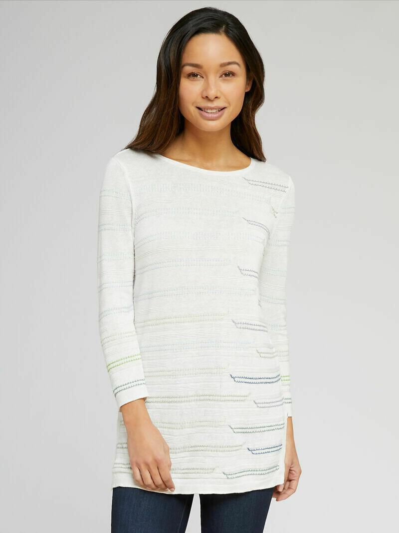 Nic + Zoe Cream Knit Top - L