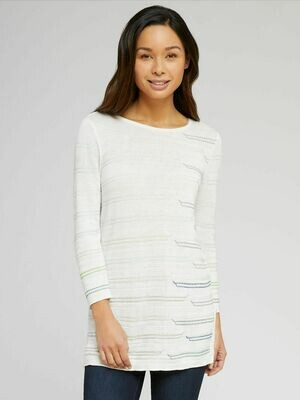 Nic + Zoe Cream Knit Top - L