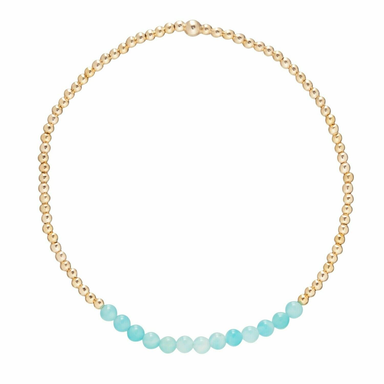 eNew gold bliss 2mm bracelet amazonite