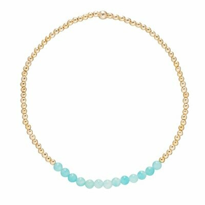eNew gold bliss 2mm bracelet amazonite