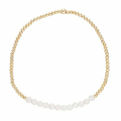 eNew gold bliss 2mm bracelet rose quartz