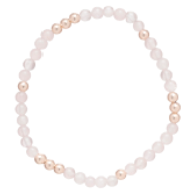 eNew rose quartz worthy pattern bracelet