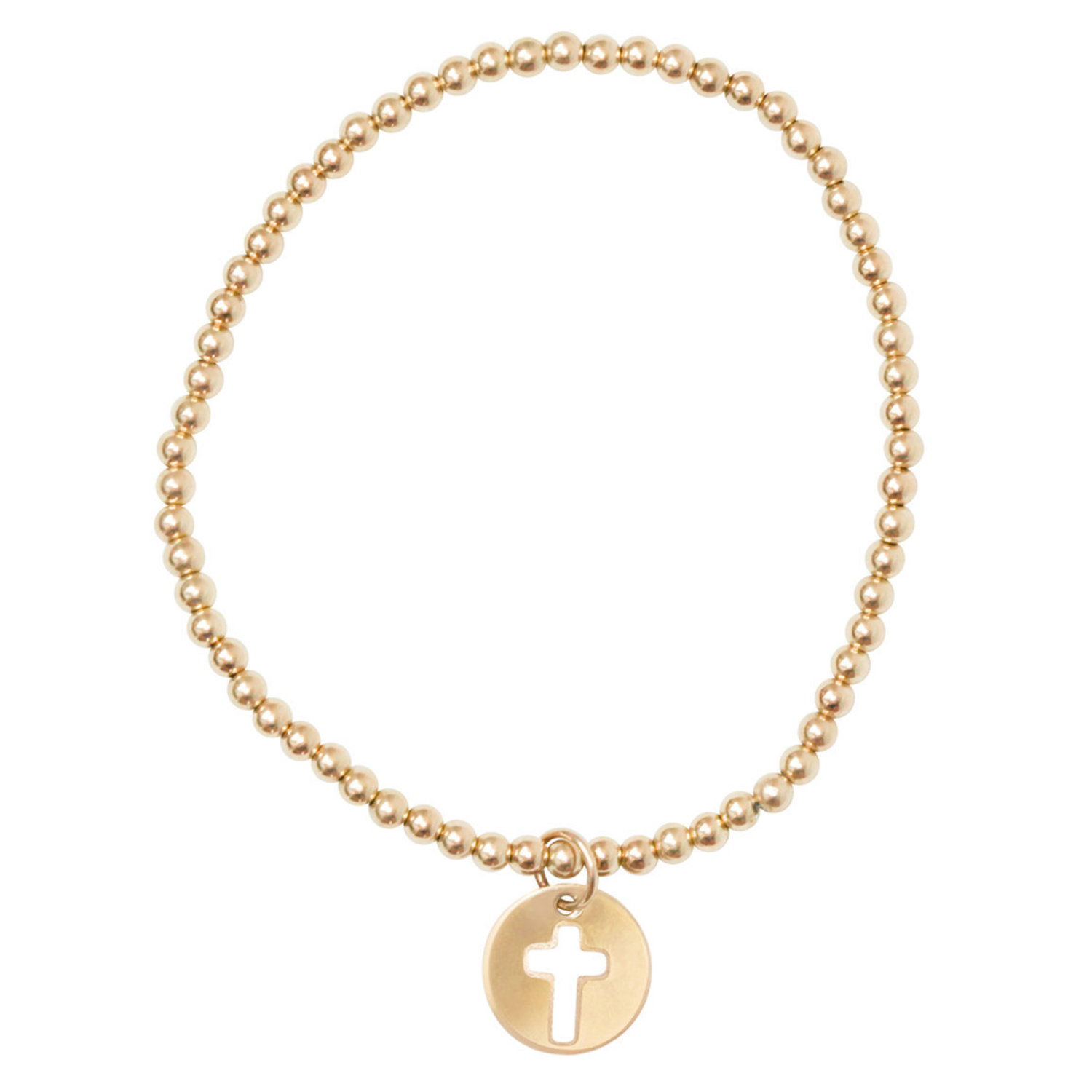 enew blessed gold classic bracelet gold 3mm bead